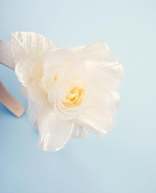 Bonneterie - Diadème avec fleur Communion
