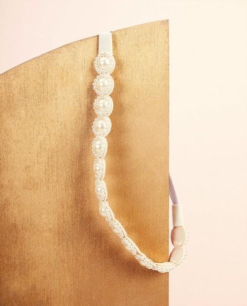 Bandeau avec perles Communion - blanc - Milla Star