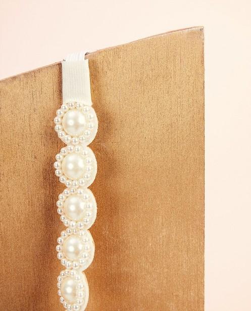 Bonneterie - white - Bandeau avec perles Communion