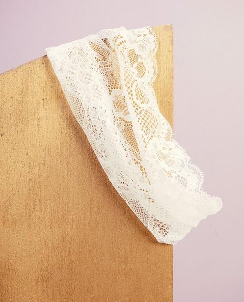 Bandeau blanc Communion - dentelle fleurie - Milla Star
