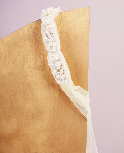 Bandeau fleuri Communion - blanc - Milla Star