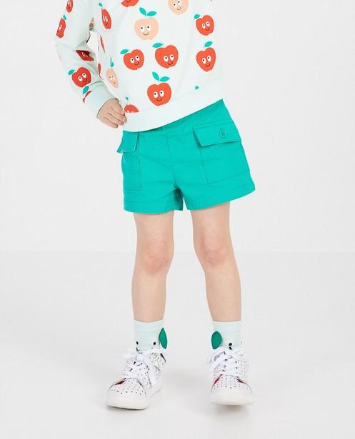 Shorts - Short vert en lin