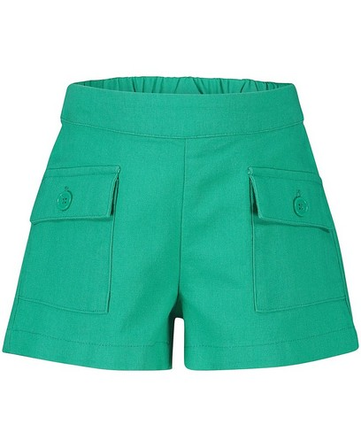 Short vert en lin