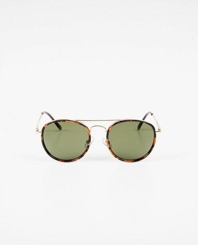 Bruin-zwarte zonnebril