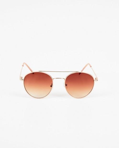 Roze-gouden pilotenzonnebril - pilotenzonnebril - Pieces