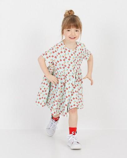 Lichtgroene jurk met appelprint