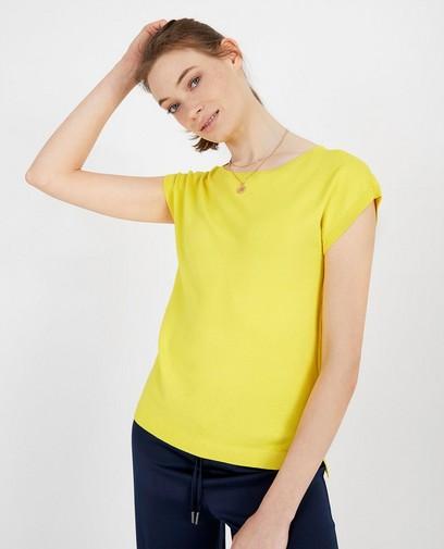 Top jaune en fin tricot Sora
