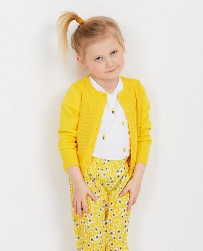 Cardigan jaune