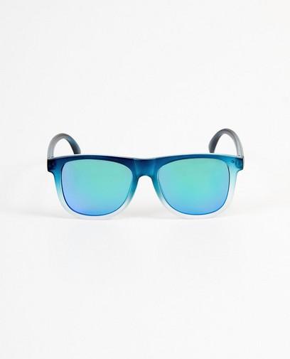 Blau-weiße Sonnenbrille