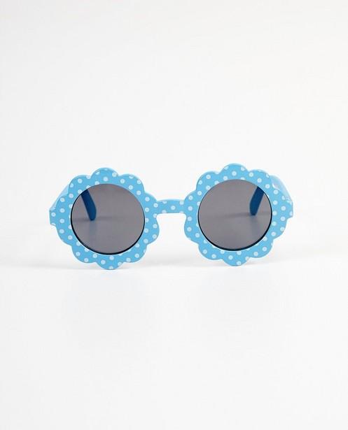 Lunettes de soleil fleur bleues - à pois blancs - JBC