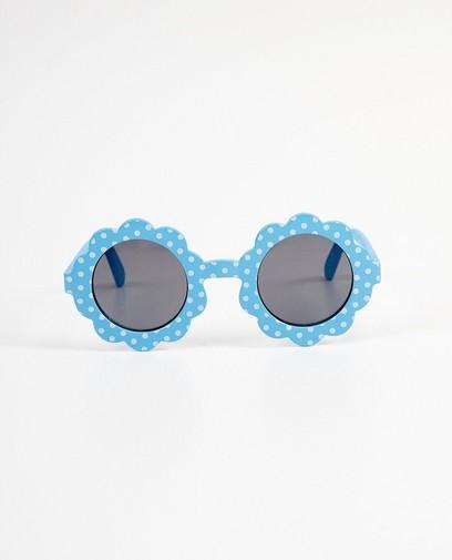 Lunettes de soleil fleur bleues