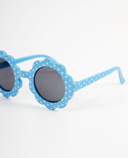Lunettes de soleil - Lunettes de soleil fleur bleues