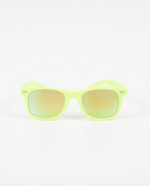 Zonnebril met fluogeel montuur - spiegelglazen - JBC