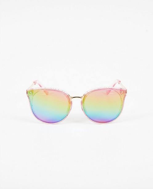 Roze zonnebril met glitters - vlinderbril - JBC