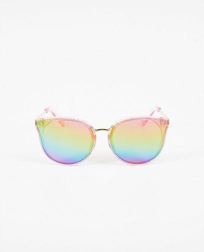 Roze zonnebril met glitters
