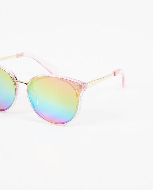 Zonnebrillen - Roze zonnebril met glitters