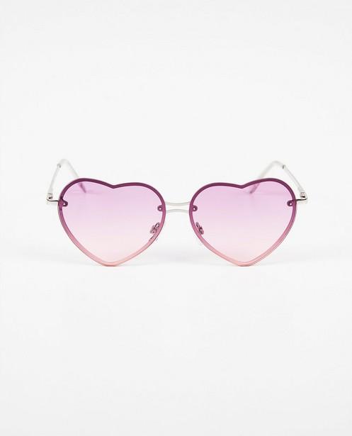 Paars-roze zonnebril met hartjes - hartjesglazen - JBC