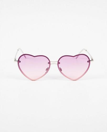 Paars-roze zonnebril met hartjes
