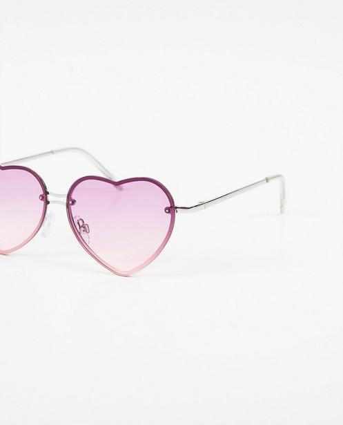 Zonnebrillen - Paars-roze zonnebril met hartjes
