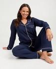 Blauwe damespyjama, Studio Unique - personaliseerbaar - JBC