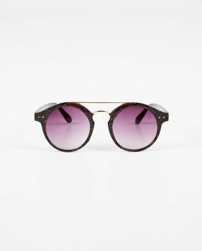 Zwarte zonnebril met glitter
