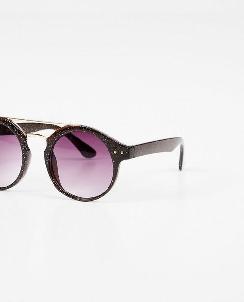 Zonnebrillen - Zwarte zonnebril met glitter