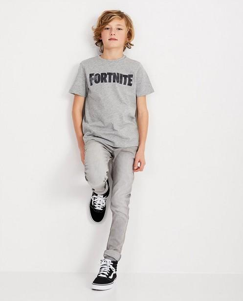 Graues FORTNITE-Shirt - mit Aufschrift - Fortnite