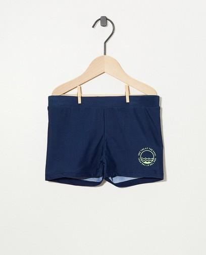 Blauwe zwemshort - kort model