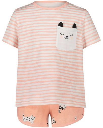 Pyjama rose rayé, 2 pièces