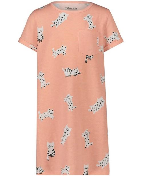 Roze pyjama met kattenprint - null - Milla Star