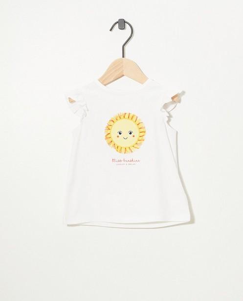Top blanc en coton bio - avec des ruches - Cuddles and Smiles