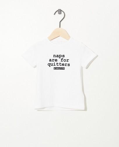 T-shirt met opschrift Twinning
