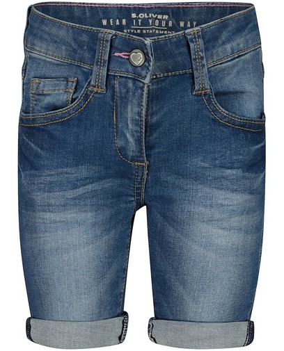Blauwe slim short in denim s.Oliver