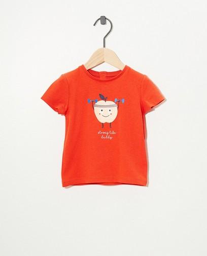 Orangefarbenes T-Shirt mit Print