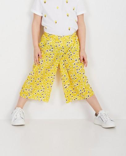 Jupe-culotte jaune, imprimé fleuri