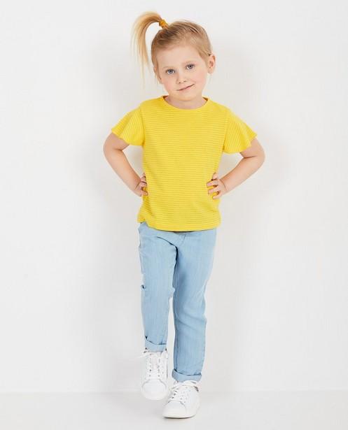 Geel T-shirt met strepen - null - Milla Star