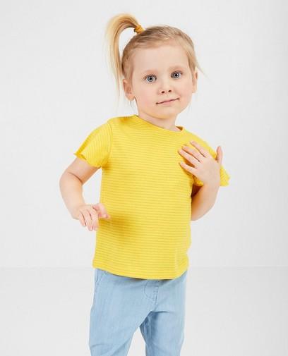 Geel T-shirt met strepen