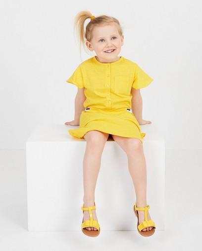 Robe jaune à rayures