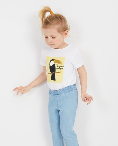 Wit T-shirt met glitterprint