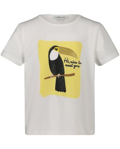 T-shirt blanc à paillettes