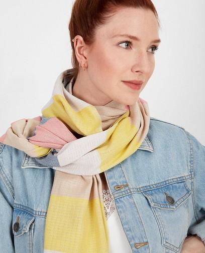 Handgemaakte sjaal met strepen I AM