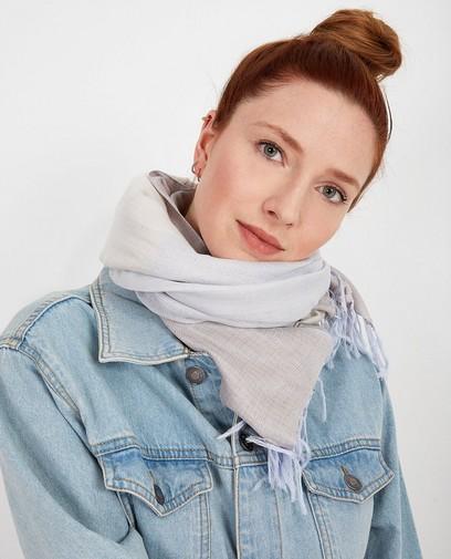 Handgemaakte sjaal in grijs I AM