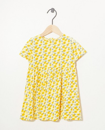 Gelbes Kleid mit Print