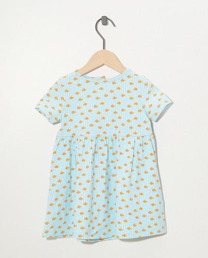 Blauwe jurk met print BESTies