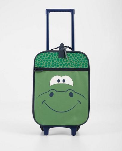 Groene koffer met print
