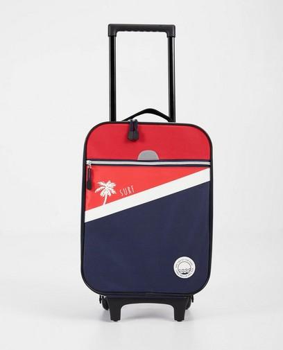 Blau-roter Koffer mit Print