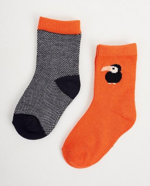 2 paires de chaussettes pour bébés - bleues et orange - JBC