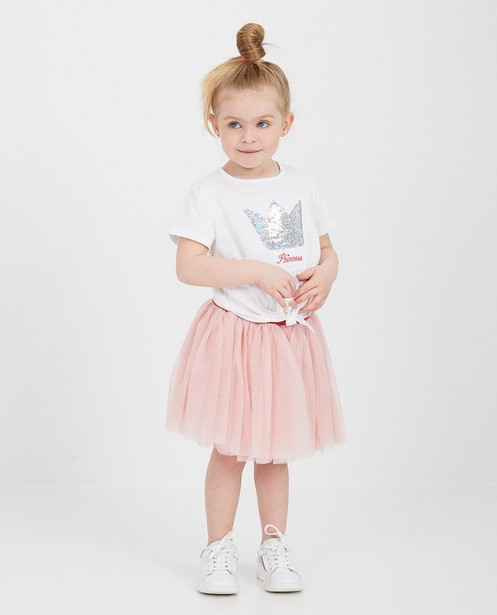 T-shirt blanc à paillettes Sora - swipe up - Prinsessia