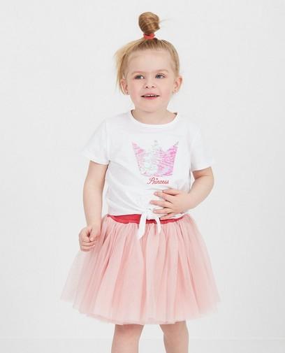 Wit shirt met pailletten Prinsessia