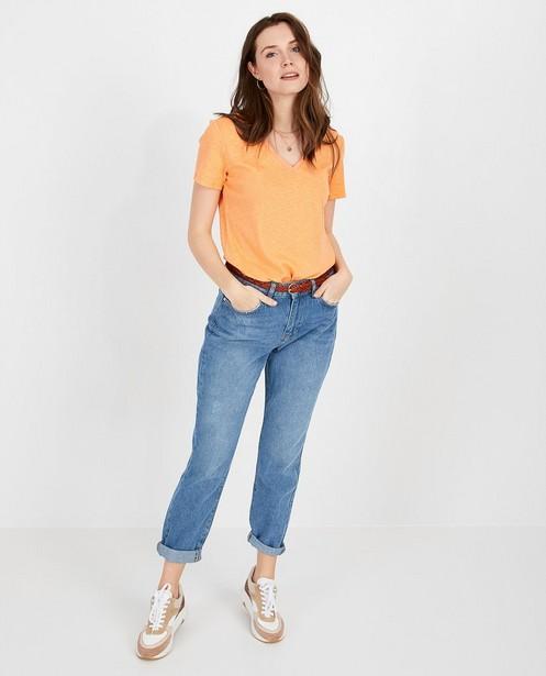 Lichtoranje T-shirt Karen Damen - null - Karen Damen